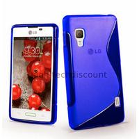 Housse etui coque pochette silicone gel pour LG Optimus L5 II 2 e460 + film ecran - BLEU