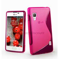 Housse etui coque pochette silicone gel pour LG Optimus L5 II 2 e460 + film ecran - ROSE