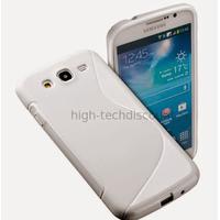 Housse etui coque silicone gel pour Samsung i9200 Galaxy Mega 6.3 + film ecran - BLANC