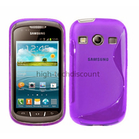 Housse etui coque silicone gel pour Samsung s7710 Galaxy Xcover 2 + film ecran - MAUVE