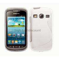Housse etui coque silicone gel pour Samsung s7710 Galaxy Xcover 2 + film ecran - BLANC