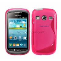 Housse etui coque silicone gel pour Samsung s7710 Galaxy Xcover 2 + film ecran - ROSE