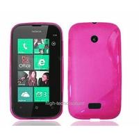 Housse etui coque silicone gel ROSE pour Nokia Lumia 510 + film ecran