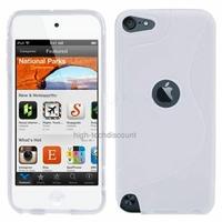 Housse etui coque silicone gel BLANC pour Apple iPod Touch 5 5G + film ecran