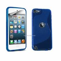 Housse etui coque silicone gel BLEU pour Apple iPod Touch 5 5G + film ecran
