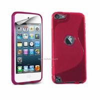 Housse etui coque silicone gel ROSE pour Apple iPod Touch 5 5G + film ecran