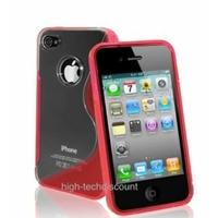 Housse etui coque silicone gel ROUGE pour Apple iPhone 4S / iPhone 4 + film ecran