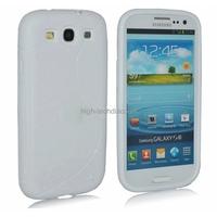 Housse etui coque silicone gel BLANC pour Samsung i9300 Galaxy s3 + film ecran