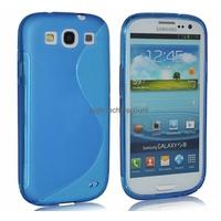 Housse etui coque silicone gel BLEU pour Samsung i9300 Galaxy s3 + film ecran