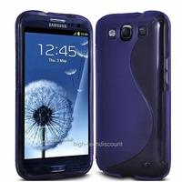 Housse etui coque silicone gel MAUVE pour Samsung i9300 Galaxy s3 + film ecran
