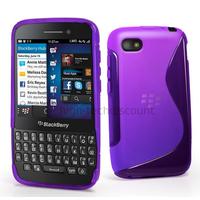 Housse etui coque pochette silicone gel pour Blackberry Q5 + film ecran - MAUVE