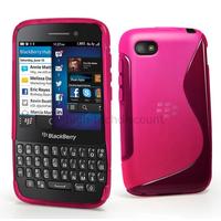 Housse etui coque pochette silicone gel pour Blackberry Q5 + film ecran - ROSE