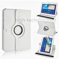 Housse etui coque pochette PU cuir pour Samsung Galaxy Tab 4 10.1 T530 + film ecran - BLANC