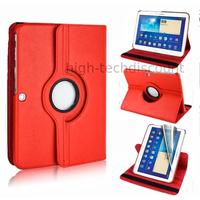 Housse etui coque pochette PU cuir pour Samsung Galaxy Tab 4 10.1 T530 + film ecran - ROUGE