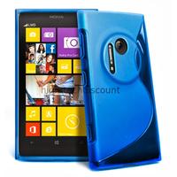 Housse etui coque pochette silicone gel pour Nokia Lumia 1020 + film ecran - BLEU