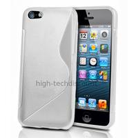 Housse etui coque pochette silicone gel pour Apple iPhone 5C + film ecran - BLANC