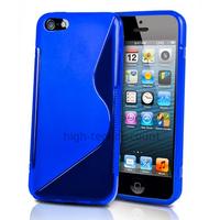 Housse etui coque pochette silicone gel pour Apple iPhone 5C + film ecran - BLEU