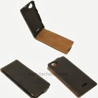 Housse etui coque pochette cuir fine pour Sony Xperia L + film ecran - NOIR