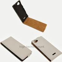 Housse etui coque pochette cuir fine pour Sony Xperia L + film ecran - BLANC