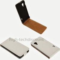 Housse etui coque cuir fine pour LG Optimus L5 II 2 + film ecran - BLANC