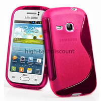 Housse etui coque silicone gel pour Samsung s6310 Galaxy Young + film ecran - ROSE