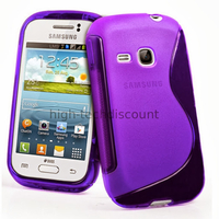 Housse etui coque silicone gel pour Samsung s6310 Galaxy Young + film ecran - MAUVE