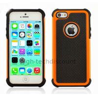 Housse etui coque anti choc rigide pour Apple iPhone 5C + film ecran - ORANGE