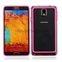 Housse etui coque bumper pour Samsung Galaxy Note 3 n9000 n9005 + film ecran - ROSE