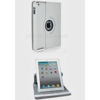 Housse etui coque pochette simi cuir pour Apple iPad 5 Air + film ecran - BLANC