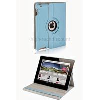 Housse etui coque pochette simi cuir pour Apple iPad 5 Air + film ecran - BLEU