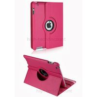 Housse etui coque pochette simi cuir pour Apple iPad 5 Air + film ecran - ROSE