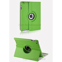 Housse etui coque pochette simi cuir pour Apple iPad 5 Air + film ecran - VERT