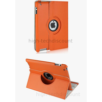 Housse etui coque pochette simi cuir pour Apple iPad 5 Air + film ecran - ORANGE