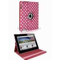 Housse etui coque pochette simi cuir pour Apple iPad 5 Air + film ecran - ROSE POIS