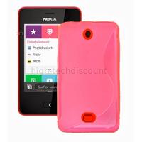 Housse etui coque pochette silicone gel pour Nokia Asha 501 + film ecran - ROSE