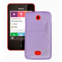 Housse etui coque pochette silicone gel pour Nokia Asha 501 + film ecran - MAUVE