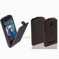 Housse etui coque pochette PU cuir fine pour HTC Desire 500 + film ecran - NOIR