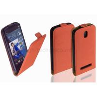Housse etui coque pochette PU cuir fine pour HTC Desire 500 + film ecran - ROUGE