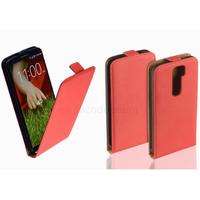 Housse etui coque pochette PU cuir fine pour LG G2 + film ecran - ROUGE