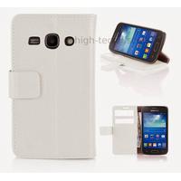 Housse etui coque portefeuille pour Samsung Galaxy Ace 3 s7270 s7275  + film ecran - BLANC
