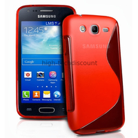 Housse etui coque silicone gel pour Samsung Galaxy Ace 3 s7270 s7275 + film ecran - ROUGE