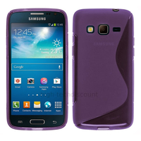 Housse etui coque silicone gel pour Samsung G3815 Galaxy Express 2 + film ecran - MAUVE