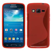 Housse etui coque silicone gel pour Samsung G3815 Galaxy Express 2 + film ecran - ROUGE