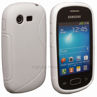 Housse etui coque silicone gel pour Samsung Galaxy Star s5280 s5282 + film ecran - BLANC