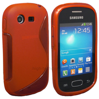 Housse etui coque silicone gel pour Samsung Galaxy Star s5280 s5282 + film ecran - ROUGE