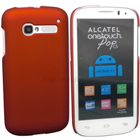 Housse etui coque rigide pour Alcatel One Touch Pop C5 5036D + film ecran - ROUGE RIGIDE