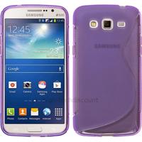 Housse etui coque silicone gel pour Samsung Galaxy Grand 2 g7105 + film ecran - MAUVE
