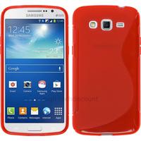 Housse etui coque silicone gel pour Samsung Galaxy Grand 2 g7105 + film ecran - ROUGE