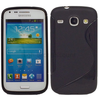 Housse etui coque silicone gel pour Samsung Galaxy Galaxy Core Plus G3500 + film ecran - NOIR