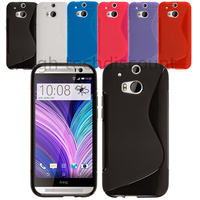 Housse etui coque pochette silicone gel pour HTC One 2 M8 (2014) + film ecran